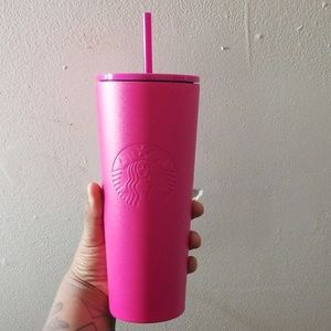 Hot Pink Starbucks Cup